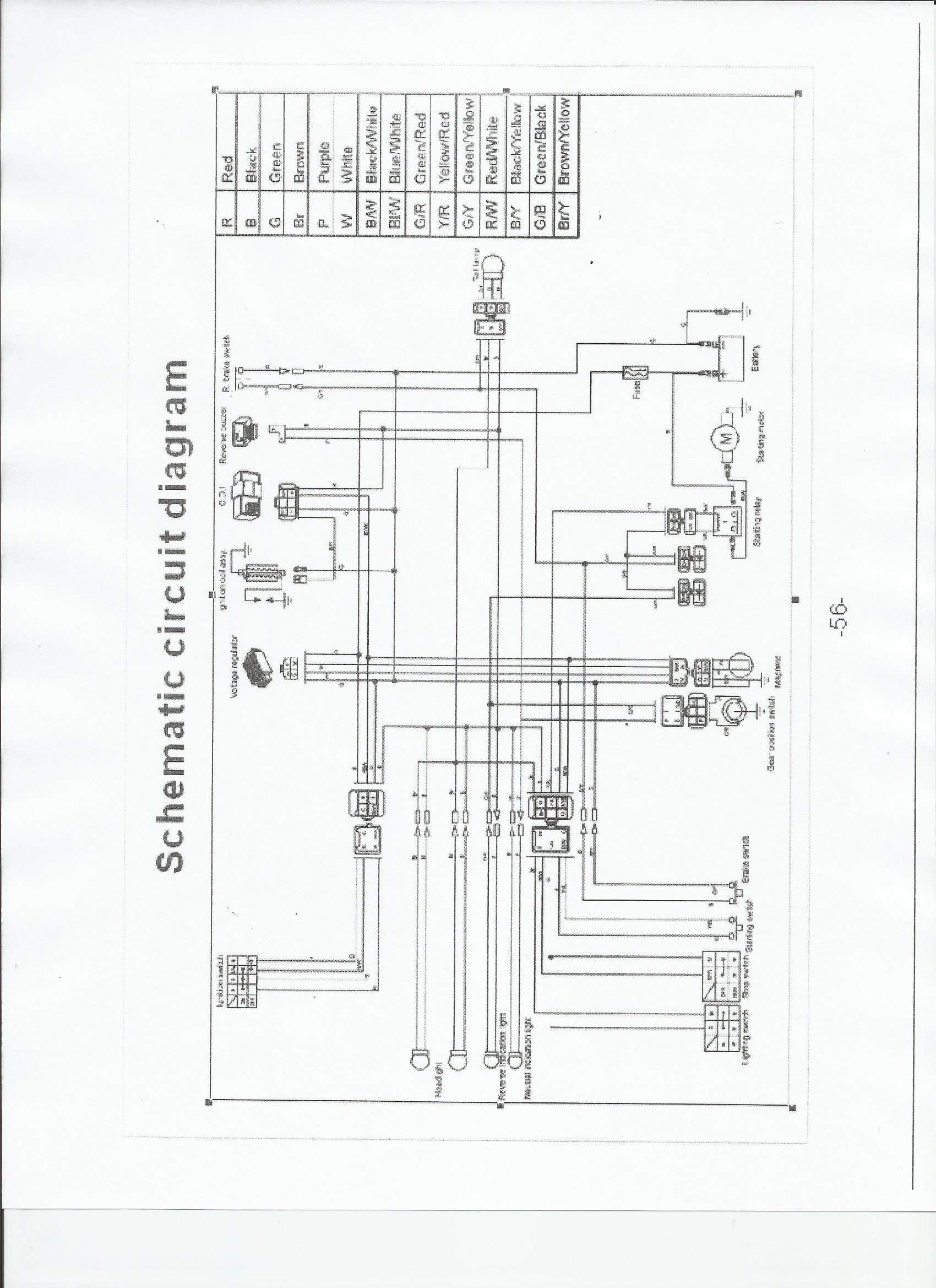 taotao mini and youth atv wiring schematic familygokarts support taotao atv 110cc at Tao Tao Atv Parts Diagram