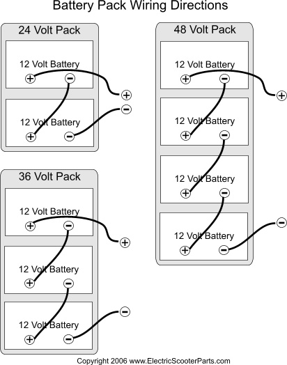 battery wiring diagram familygokarts support  24 volt scooter battery wiring diagram #7